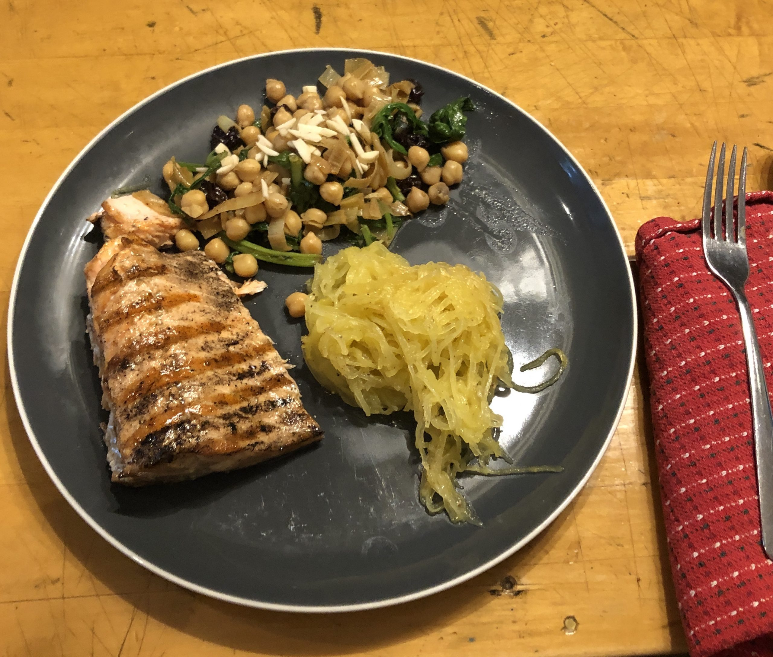 Trout and Catalan Chickpeas
